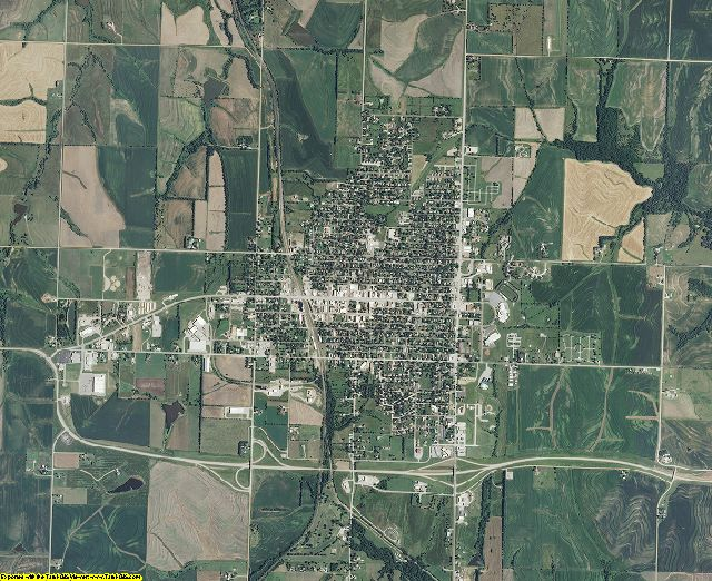 Brown County, Kansas aerial photography