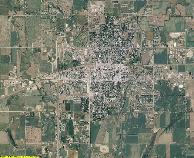 Brown County, South Dakota aerial photography