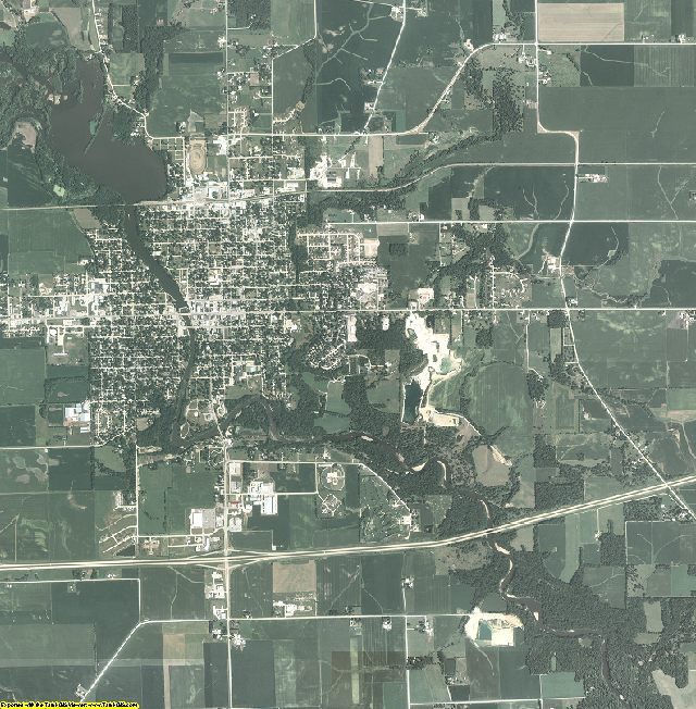 Buchanan County, Iowa aerial photography