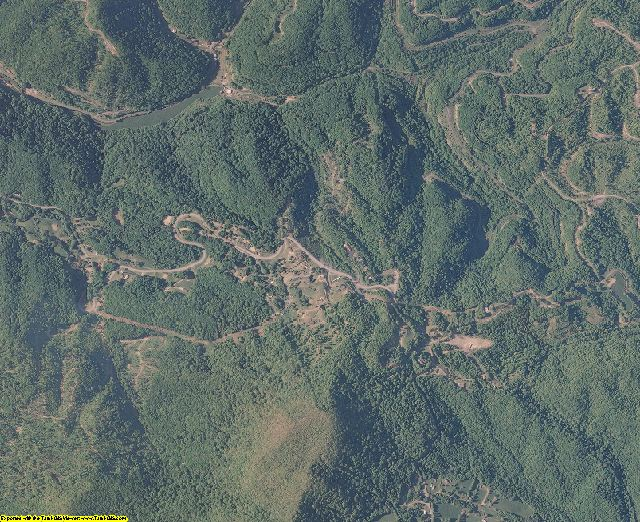 Buchanan County, Virginia aerial photography