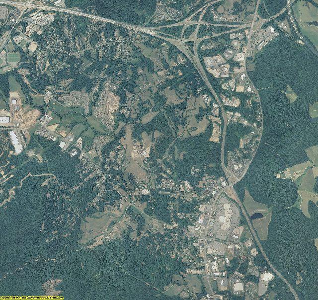 Buncombe County, North Carolina aerial photography