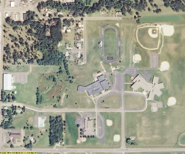 Burnett County, WI aerial photography detail