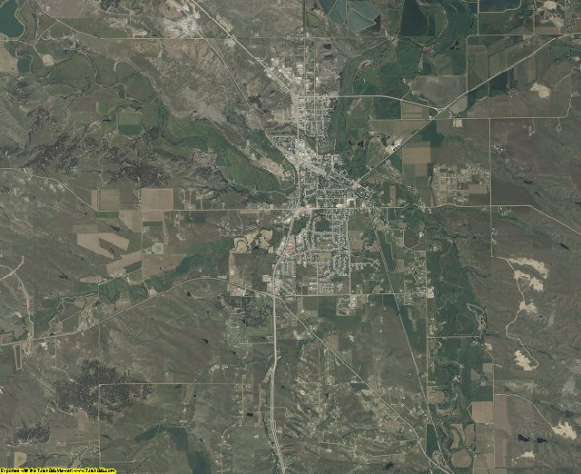 Butte County, South Dakota aerial photography