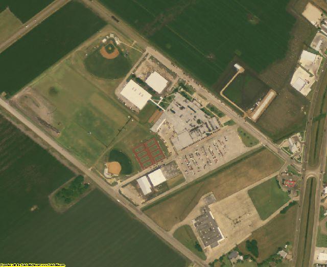 Calhoun County, TX aerial photography detail