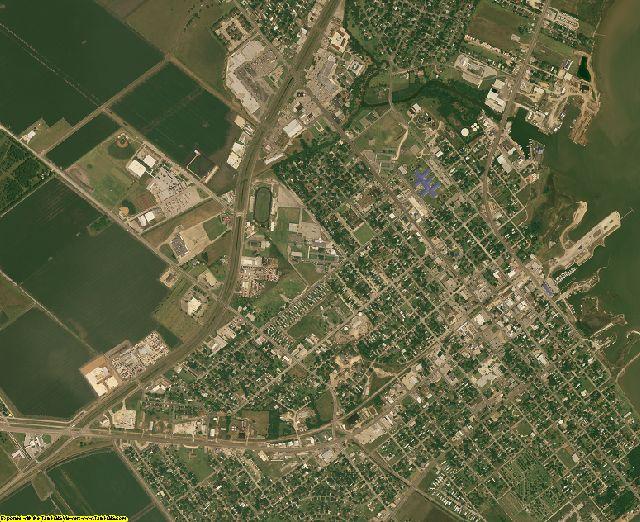 Calhoun County, Texas aerial photography