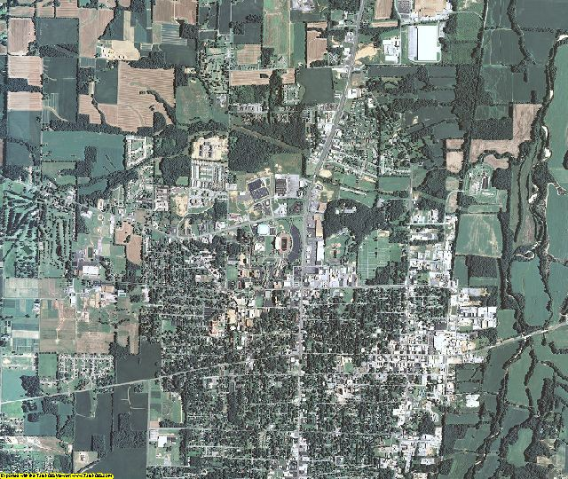 Calloway County, Kentucky aerial photography