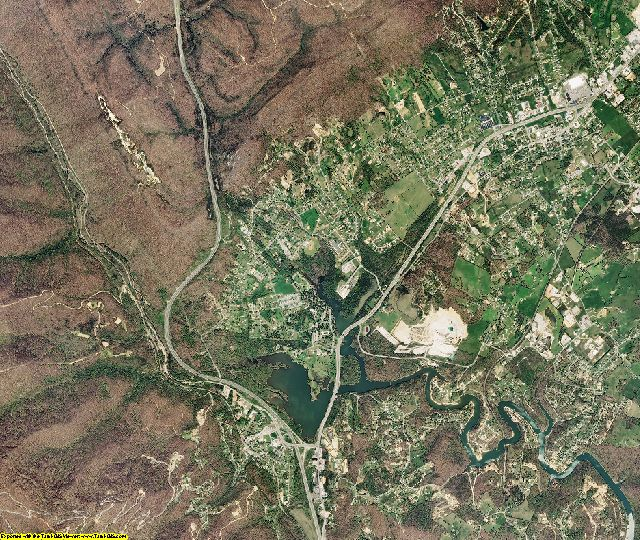 Campbell County, Tennessee aerial photography