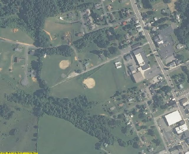 Carroll County, VA aerial photography detail
