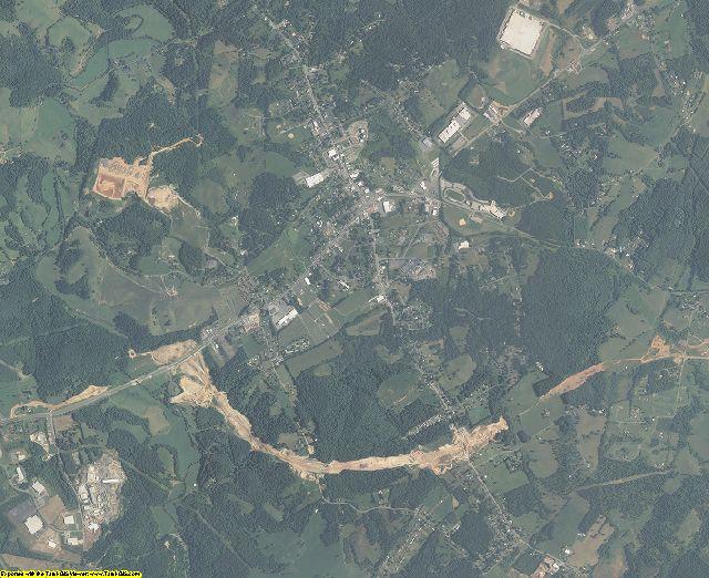 Carroll County, Virginia aerial photography