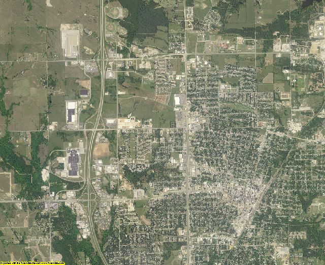 Carter County, Oklahoma aerial photography