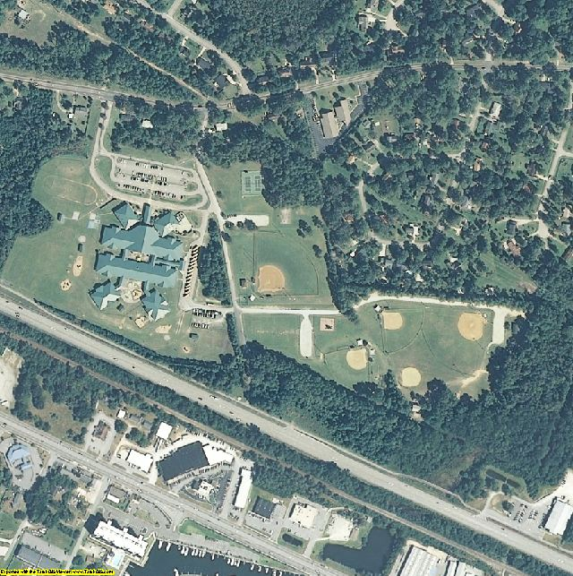 Carteret County, NC aerial photography detail