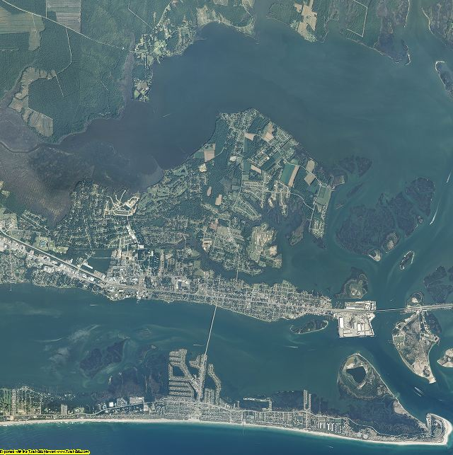 Carteret County, North Carolina aerial photograph