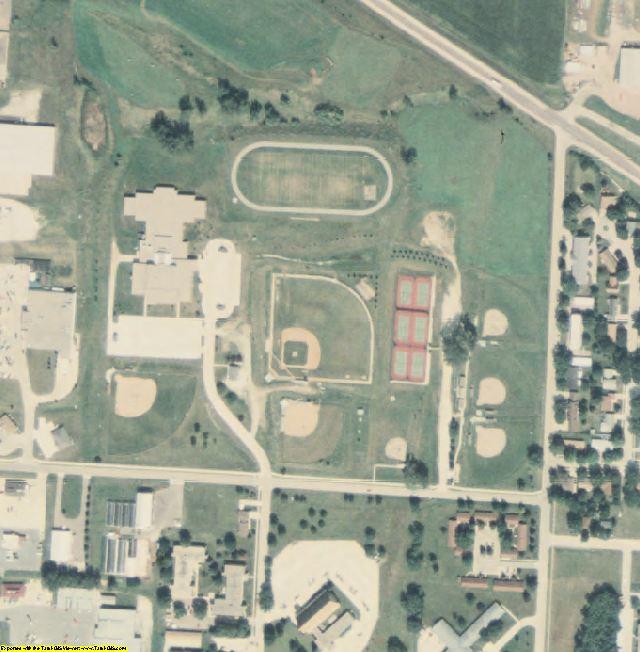 Cherokee County, IA aerial photography detail