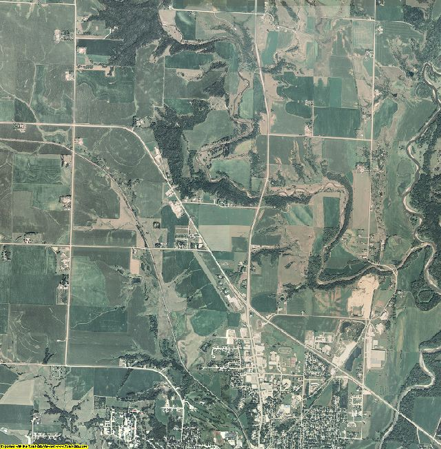 Cherokee County, Iowa aerial photography