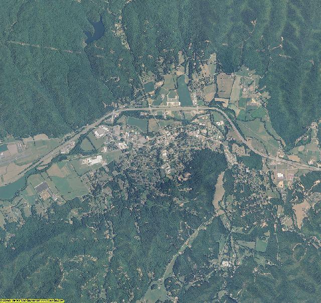 Cherokee County, North Carolina aerial photography