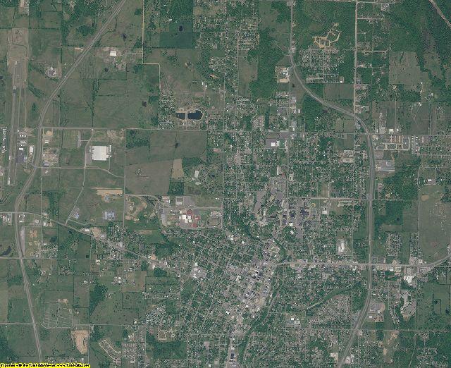 Cherokee County, Oklahoma aerial photography