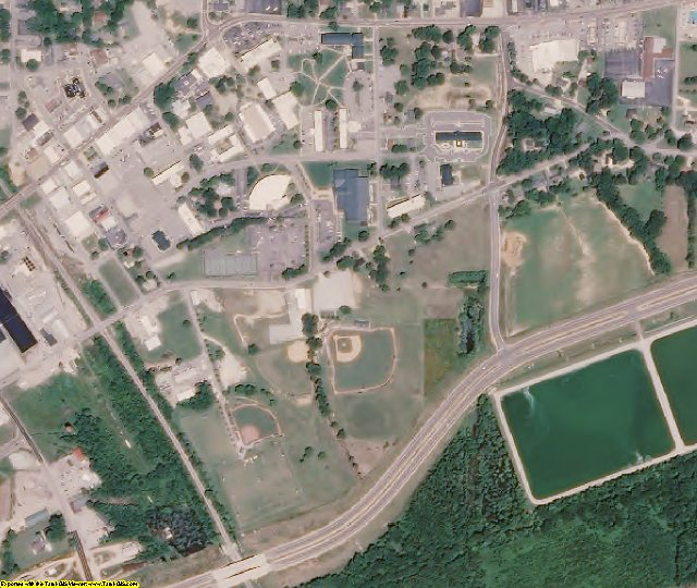 Chester County, TN aerial photography detail