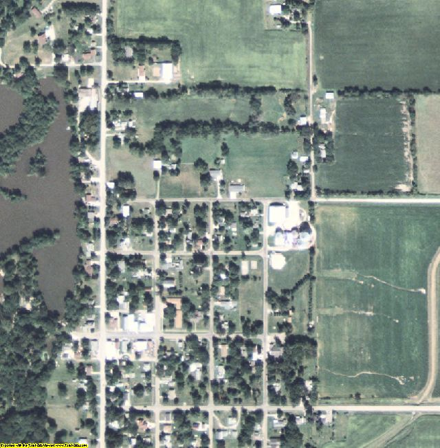 Chickasaw County, IA aerial photography detail