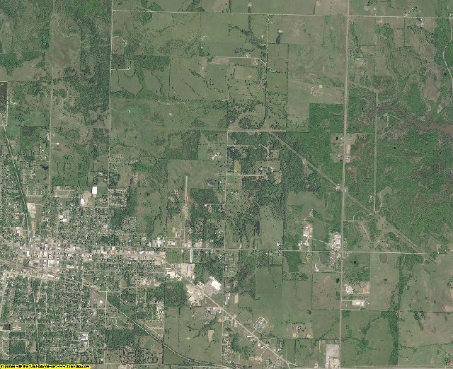 Choctaw County, Oklahoma aerial photography