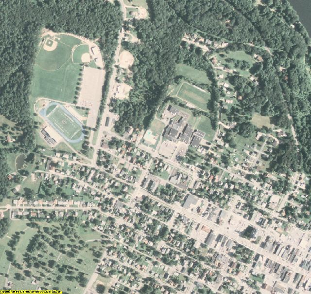 Clarion County, PA aerial photography detail