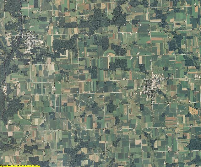 Clark County, Wisconsin aerial photography