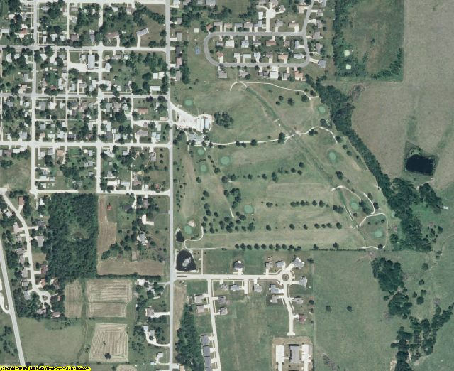 Clarke County, IA aerial photography detail