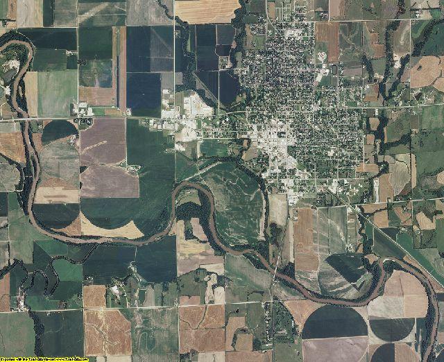 Clay County, Kansas aerial photography