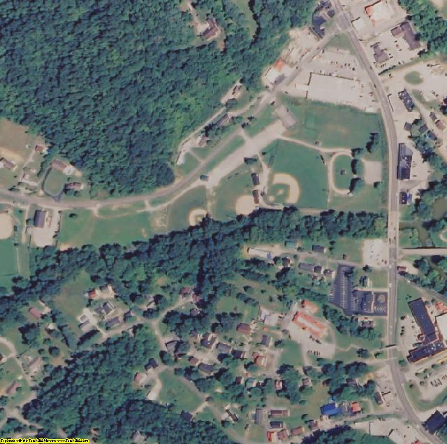 Clay County, KY aerial photography detail