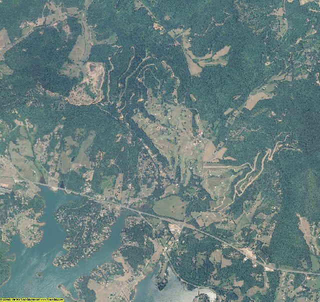 Clay County, North Carolina aerial photography