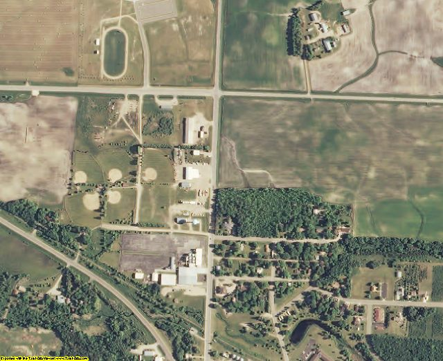 Clearwater County, MN aerial photography detail