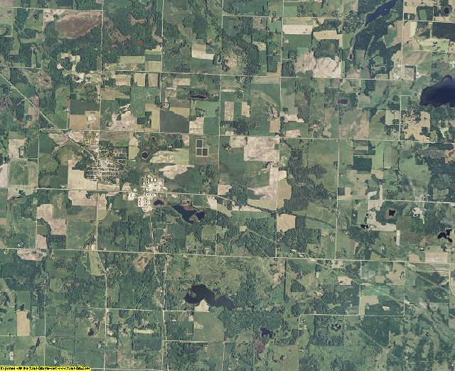 Clearwater County, Minnesota aerial photography