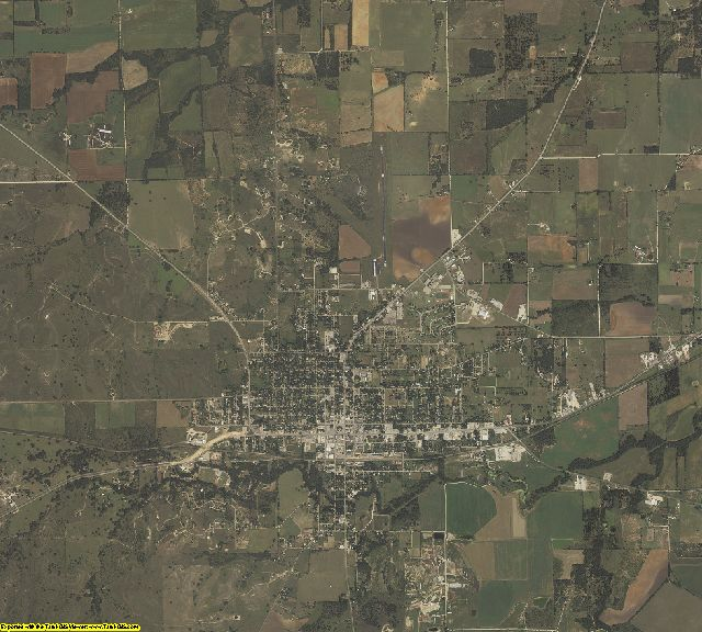 Comanche County, Texas aerial photography