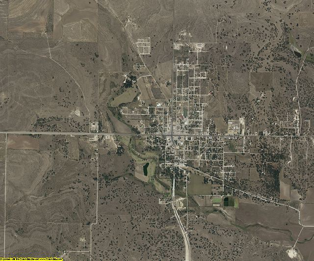 Concho County, Texas aerial photography