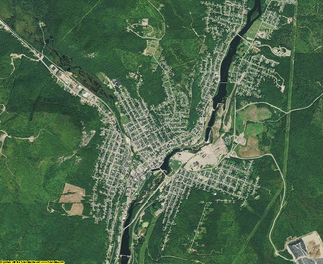 Coos County, New Hampshire aerial photography