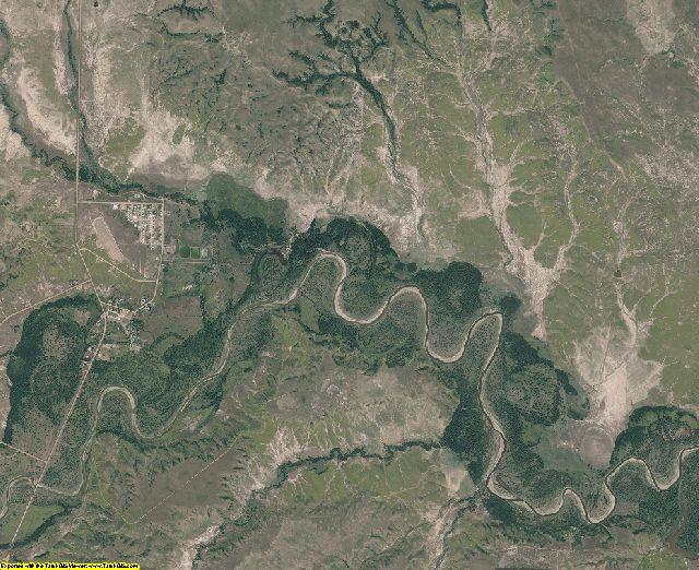 Corson County, South Dakota aerial photography