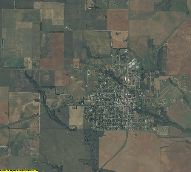 Cottle County, Texas aerial photography