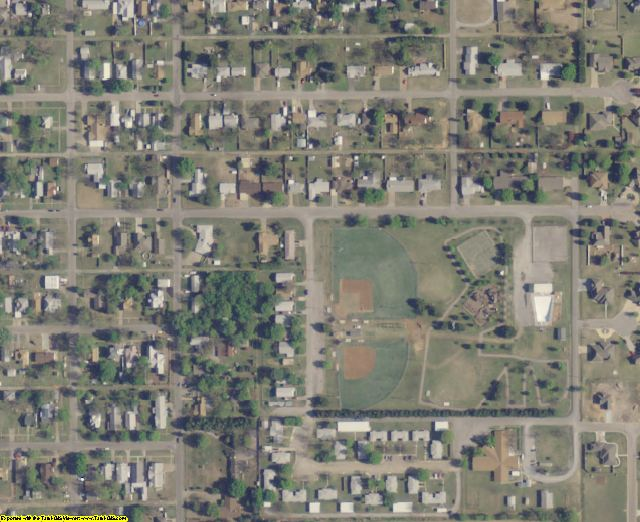 Cotton County, OK aerial photography detail