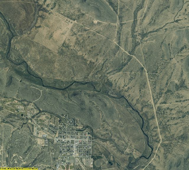 Crockett County, Texas aerial photography