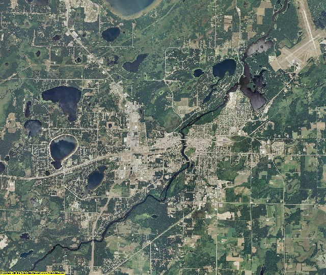 Crow Wing County, Minnesota aerial photography