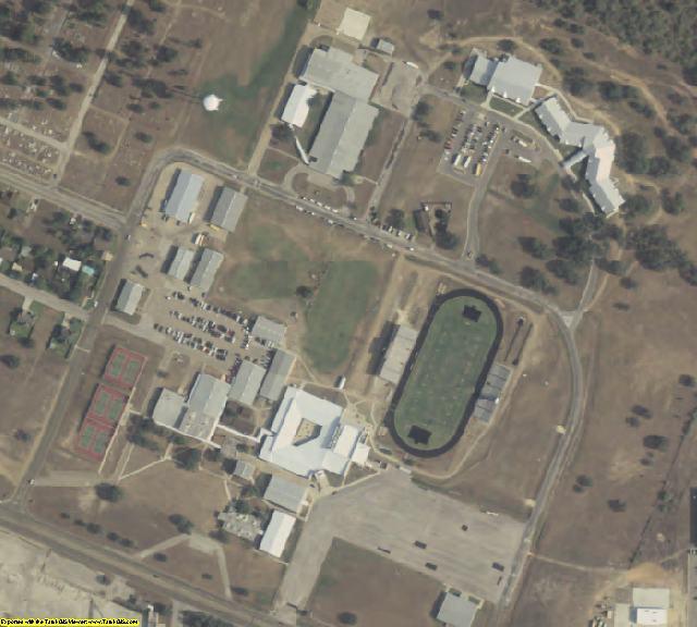 DeWitt County, TX aerial photography detail