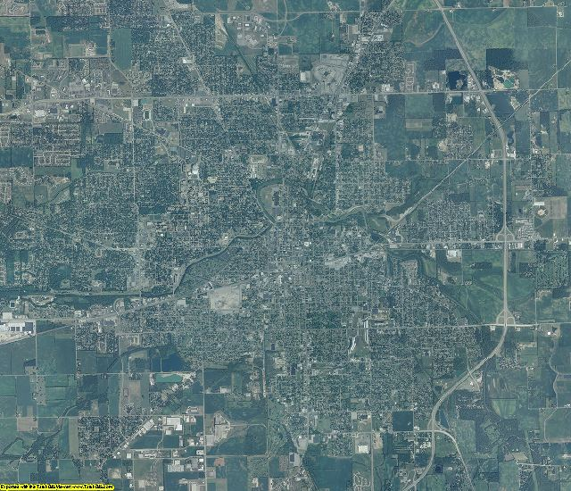 Delaware County, Indiana aerial photography