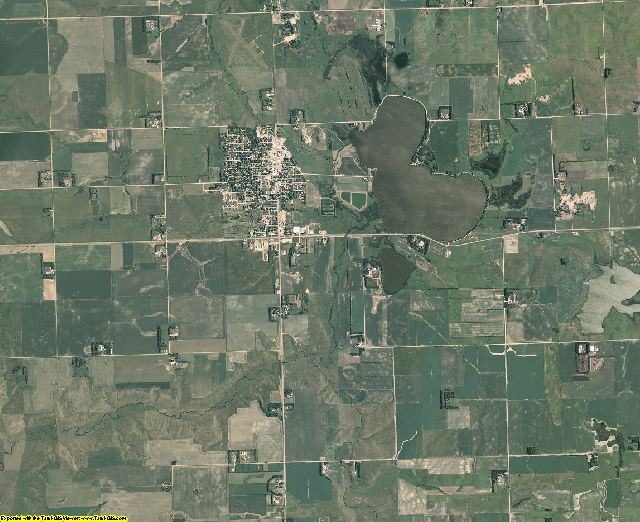 Deuel County, South Dakota aerial photography