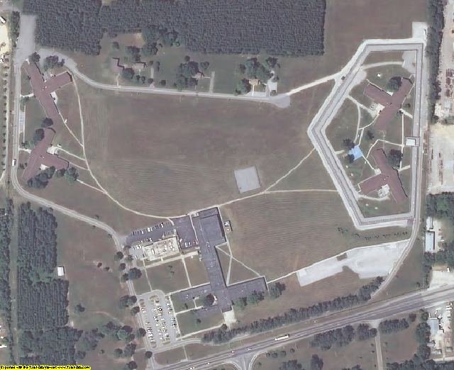 Dinwiddie County, VA aerial photography detail