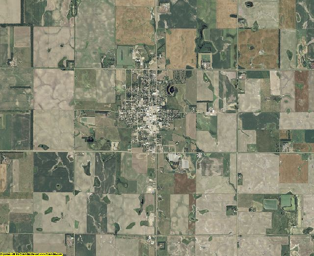 Douglas County, South Dakota aerial photography