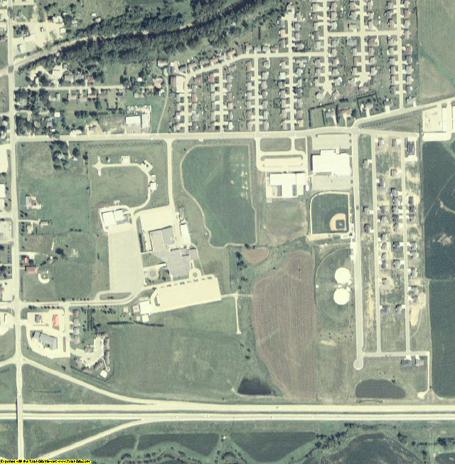 Dubuque County, IA aerial photography detail