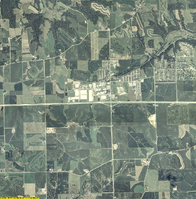 Dubuque County, Iowa aerial photography