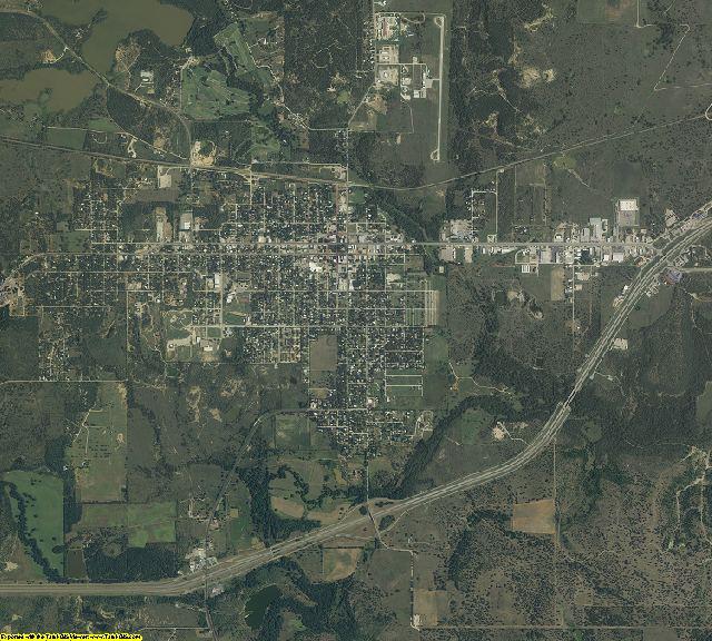 Eastland County, Texas aerial photography