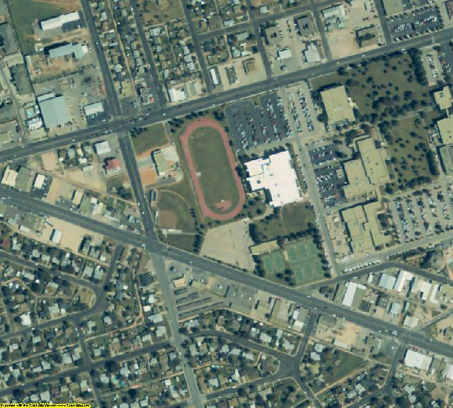 Ector County, TX aerial photography detail