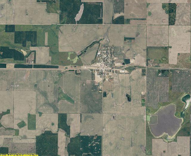 Edmunds County, South Dakota aerial photography