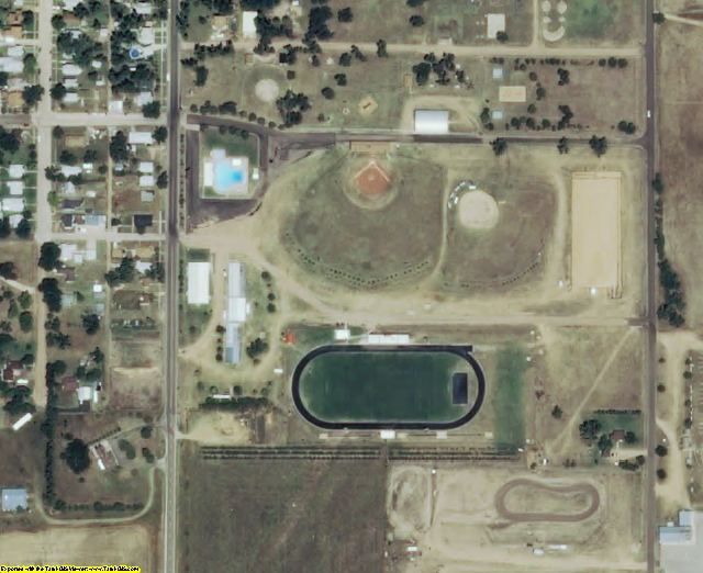 Edwards County, KS aerial photography detail